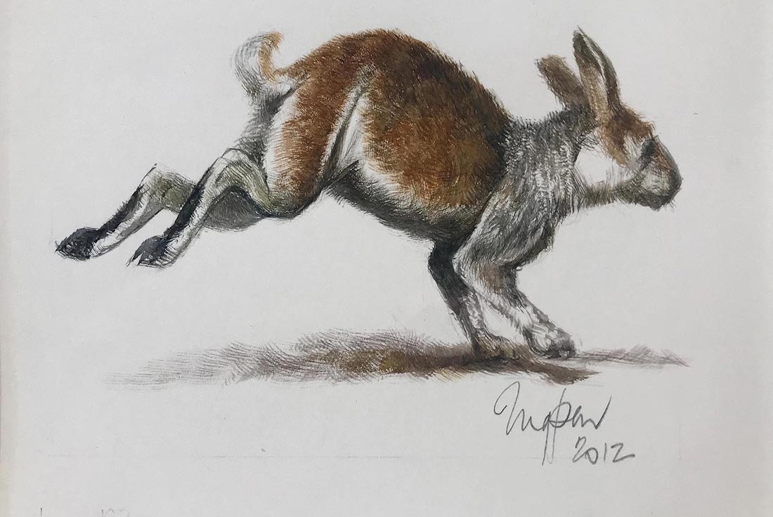 web The bounding rabbit, 2012, from Just So Stories - The Taboo Tale, Kipling, watercolour, 14.5 x 18.5cm paper dimensions