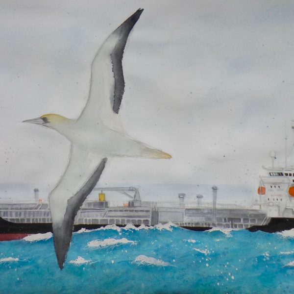 All at Sea, watercolour 896 x 66 cm