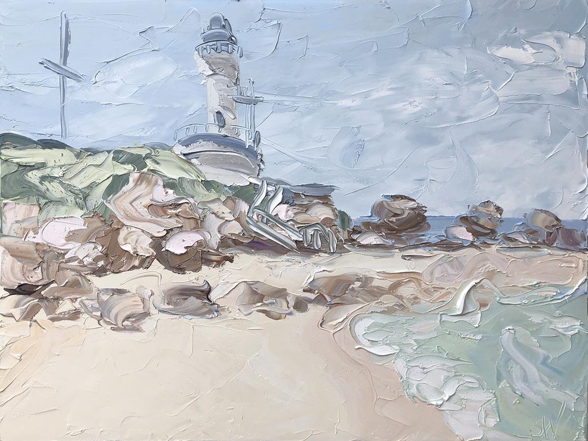 1200x900 Bellarine - Point Lonsdale Lighthouse(18.1.20).oil on canvas, 90x120cm, $6600