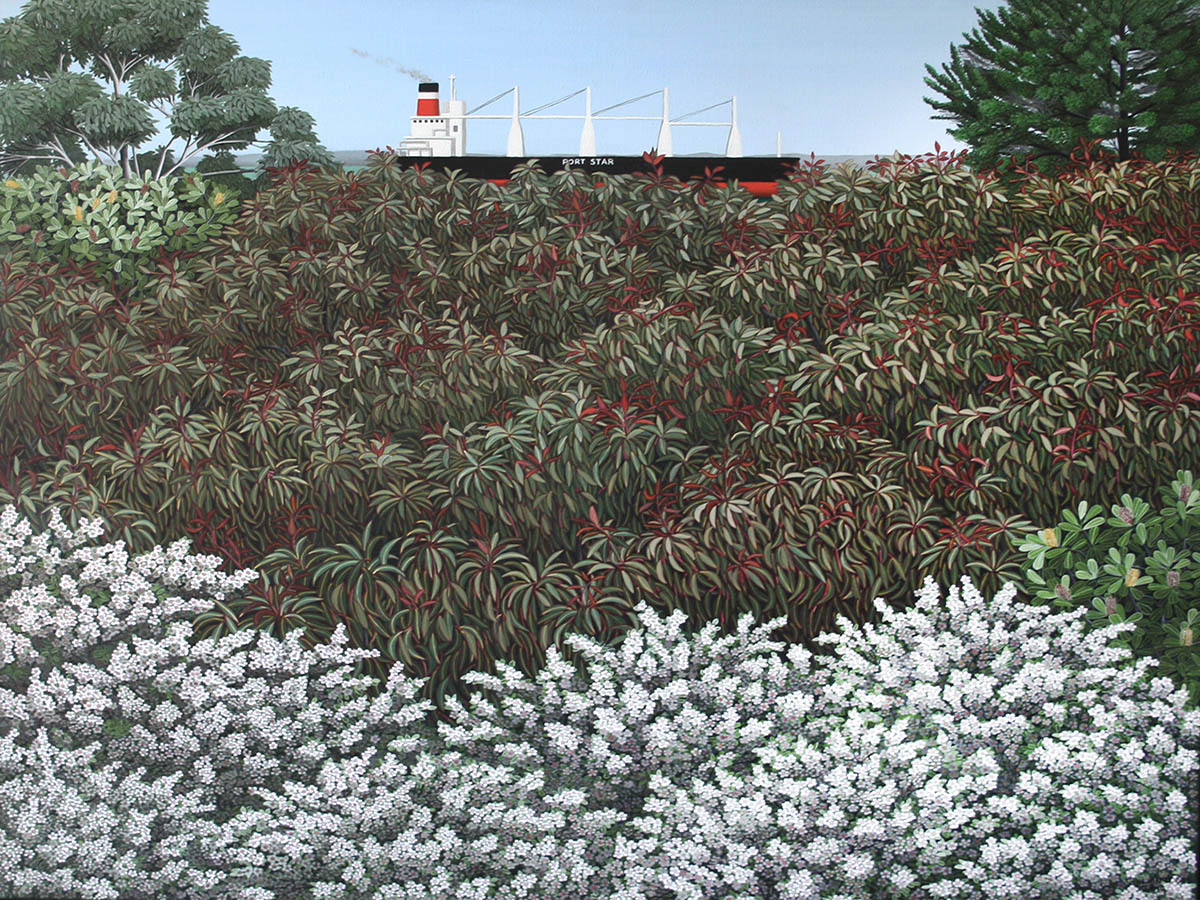 1200x900 Gillian Lodge_Passing Portarlington, oil on canvas, 105x124cm