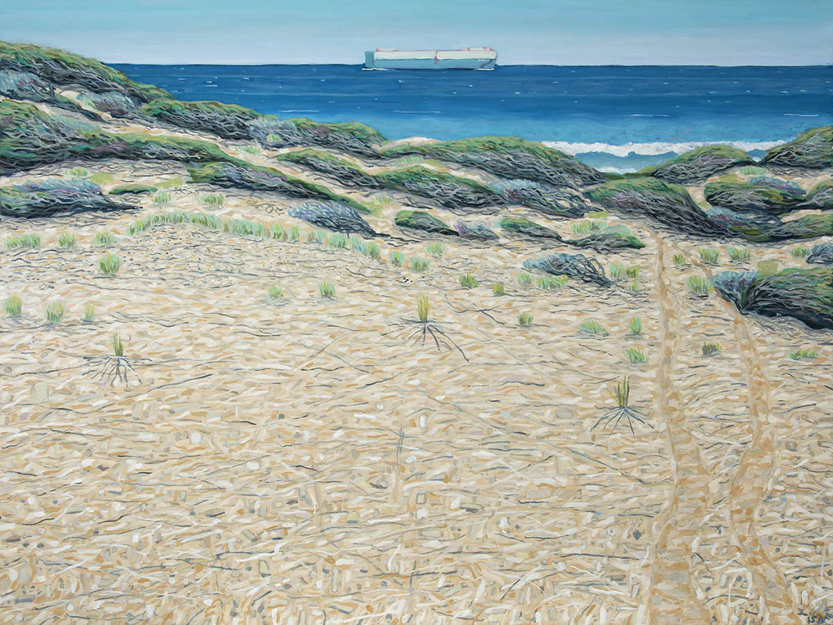 1200x900 Petrified Dune, 2020, Sue Anderson, 138x162cm, oil on linen, $10,000