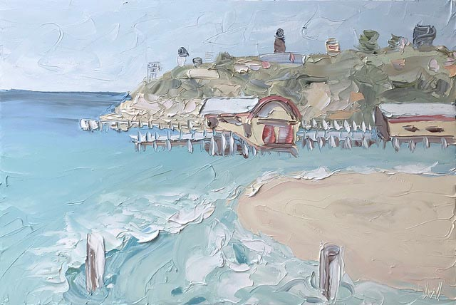 "website slider image Bellarine"", 100x150cm, oil on canvas. $7700"
