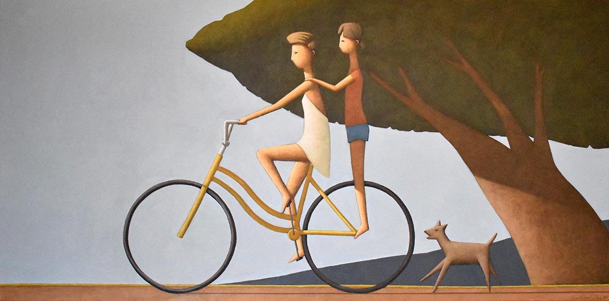 web Autumn Ride 2, acrylic on linen, 61x122cm