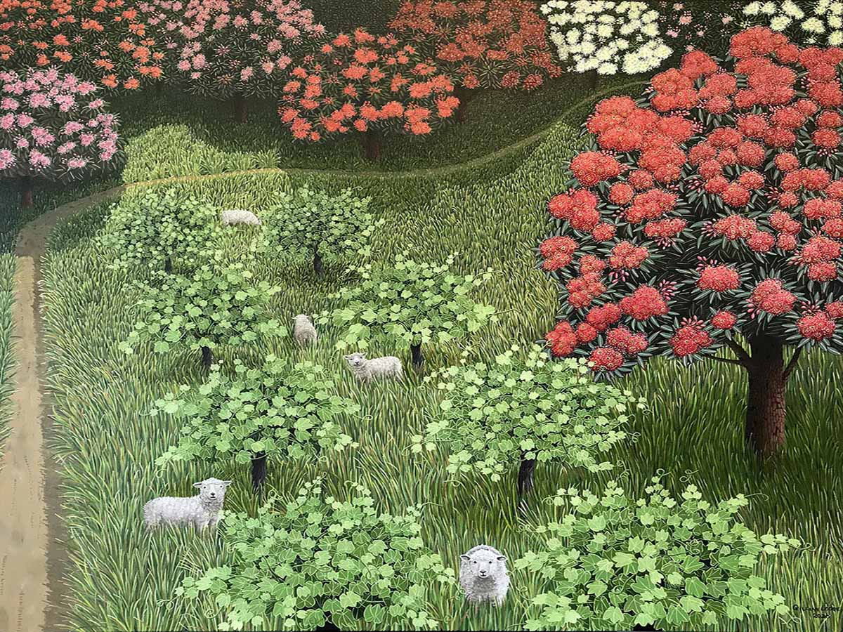 900x1200 Sheepwalk, 2020, Gillian Lodge, oil on linen, 102cm x122cm copy
