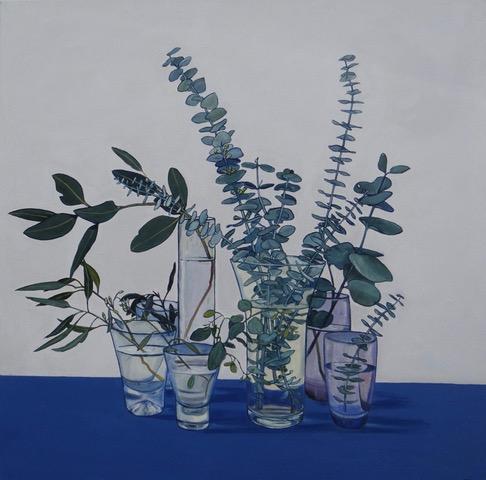 'Eucalyptus II' 102x102 Acrylic on canvas